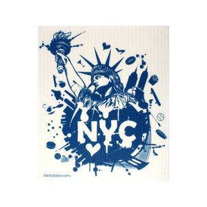 NYC Blue Liberty One cloth Swedish Dishcloths | ECO Friendly Absorbent Cleaning Cloth