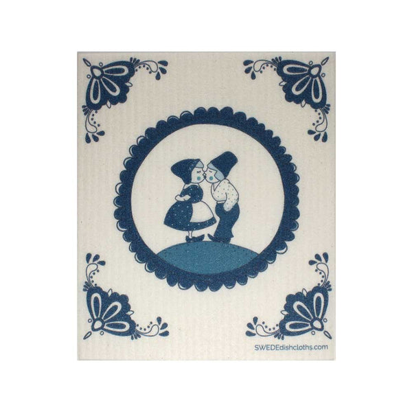 "Swedish Dishcloths ""Dutch Kissing"" One Dishcloth 