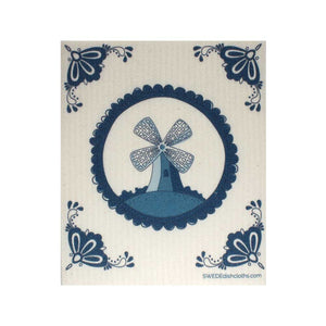 "Swedish Dishcloths ""Dutch Windmill"" One Dishcloth 