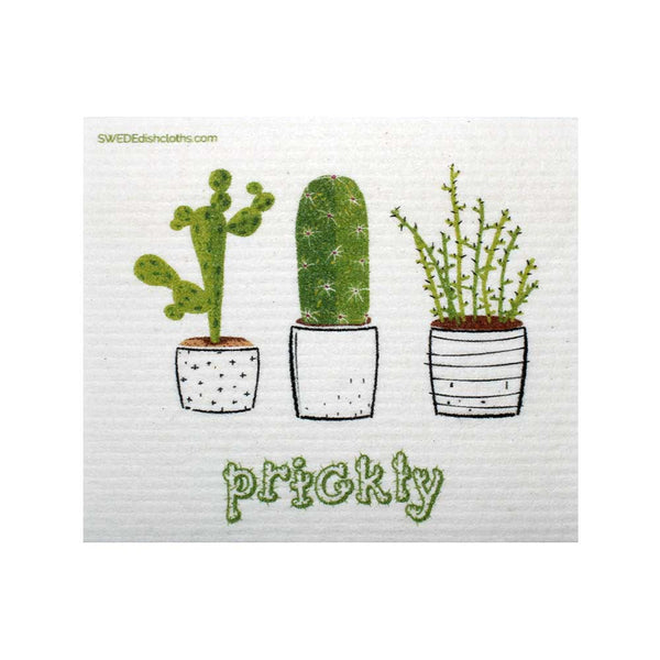 Prickly Cactus One cloth Swedish Dishcloths | ECO Friendly Absorbent Cleaning Cloth
