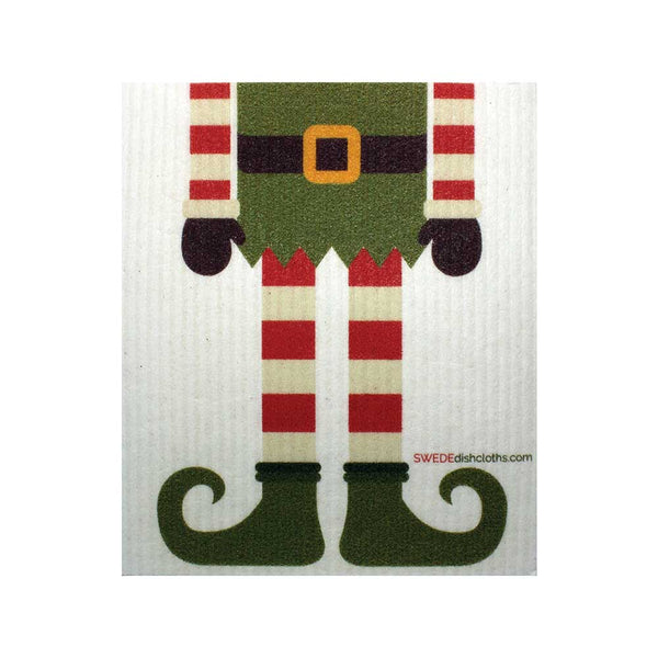 Christmas Elf One cloth Swedish Dishcloths | Eco Friendly Reusable Absorbent Cleaning Cloth