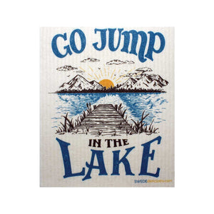 "Swedish Dishcloths ""Go Jump in the Lake"" One Dishcloth 