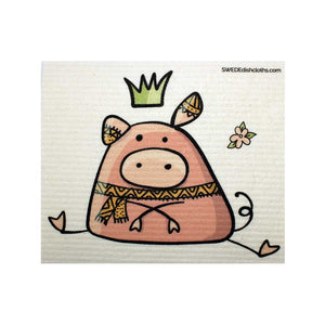Sitting Pig One cloth Swedish Dishcloths | ECO Friendly Absorbent Cleaning Cloth