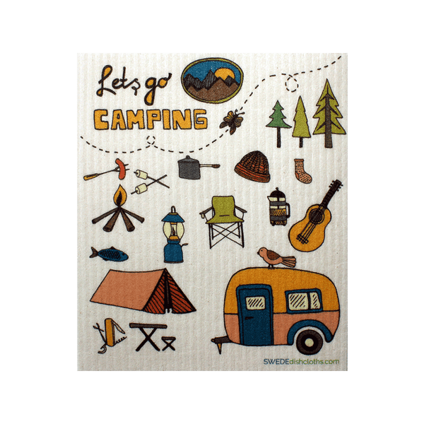Lets go Camping One cloth Swedish Dishcloths | ECO Friendly Absorbent Cleaning Cloth