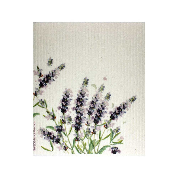 Lavender Flowers Swedish Dishcloths | ECO Friendly Absorbent Cleaning Cloth