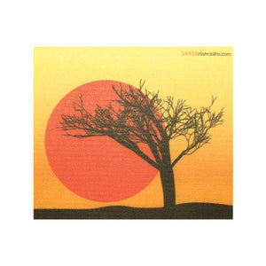 Tree Silhouette One cloth Swedish Dishcloths | ECO Friendly Absorbent Cleaning Cloth