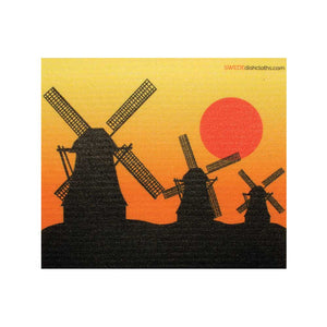 Windmills Silhouette One cloth Swedish Dishcloths | ECO Friendly Absorbent Cleaning Cloth