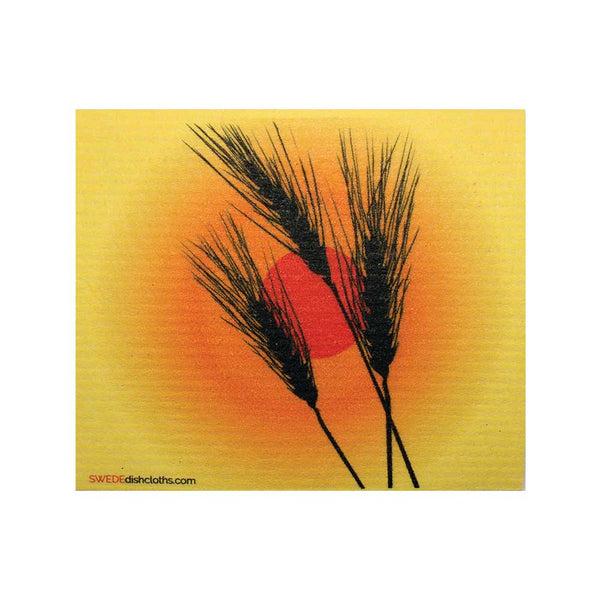 Wheat Silhouette One cloth Swedish Dishcloths | ECO Friendly Absorbent Cleaning Cloth