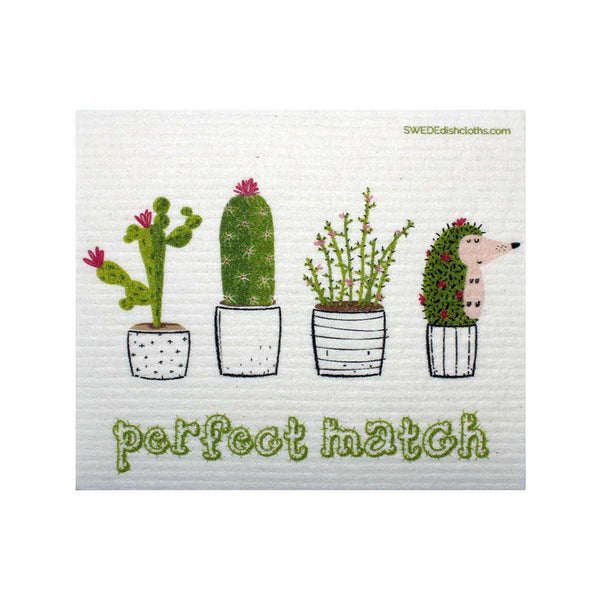 Cactus Perfect Match One cloth Swedish Dishcloths | ECO Friendly Absorbent Cleaning Cloth