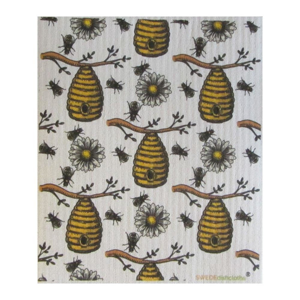 Bees/honey One Cloth Swedish Dishcloths