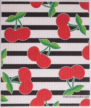Swedish Dishcloth (Fruit Collage) Set of 4 (One of each design) Paper Towel Replacements | Swededishcloths