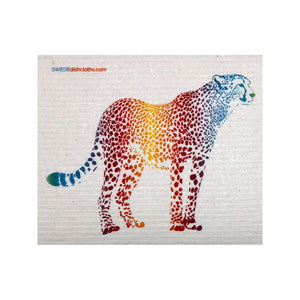 Colorful Cheetah One Each Swedish Dishcloth - 1