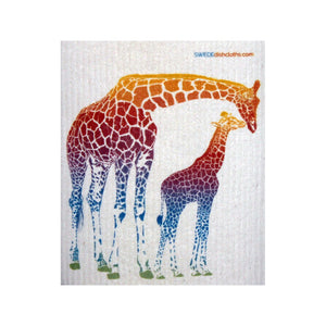 Colorful Giraffe One Each Swedish Dishcloth - 1