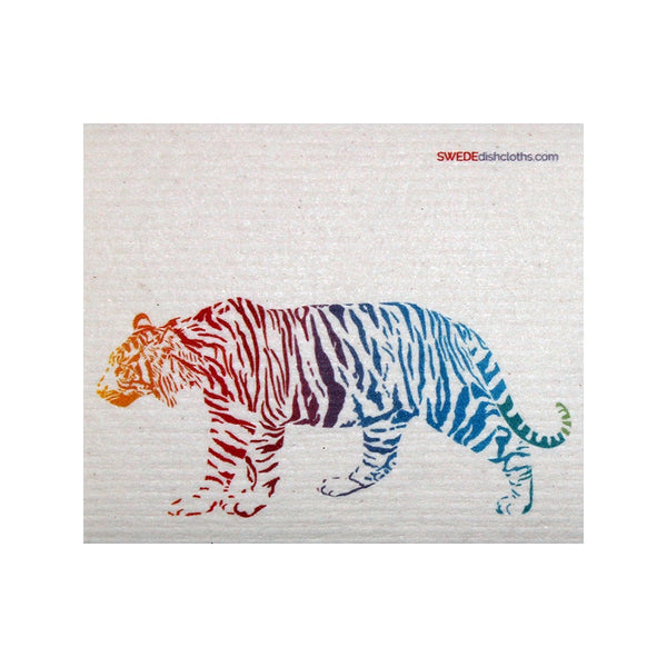 Colorful Tiger One Each Swedish Dishcloth - 1