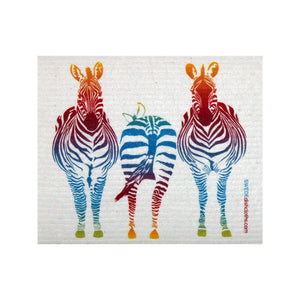 Colorful Zebra One Each Swedish Dishcloth - 1