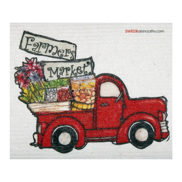 Farmers Market Truck One Each Swedish Dishcloth | Eco Friendly Absorbent Cleaning Cloth | Reusable Cleaning Wipes - 1