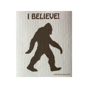 I Believe Bigfoot One Each Swedish Dishcloth | Eco Friendly Absorbent Cleaning Cloth | Reusable Cleaning Wipes - 1