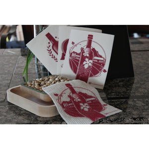 Swedish Dishcloth At The Winery - Single Cloth | Reusable Eco - Friendly - 1
