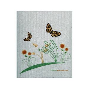 Swedish Dishcloth One Swedish Dishcloth 2 Spring Butterflies Design - 1