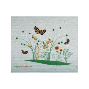 Swedish Dishcloth One Swedish Dishcloth 3 Spring Butterflies Design - 1
