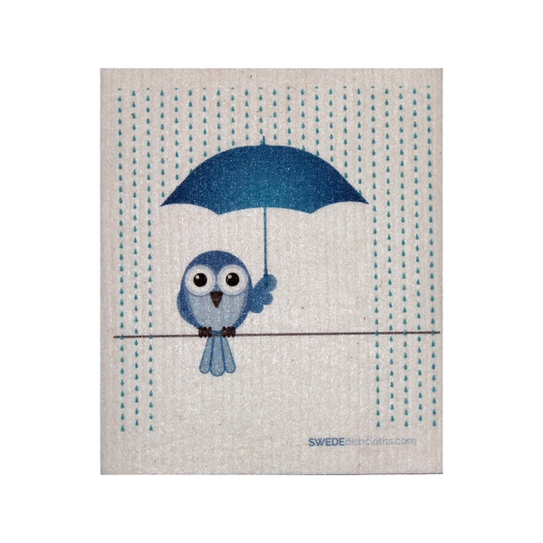 Swedish Dishcloth One Swedish Dishcloth Bluebird In Rain Design - 1