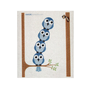 Swedish Dishcloth One Swedish Dishcloth Bluebirds In Tree Design - 1
