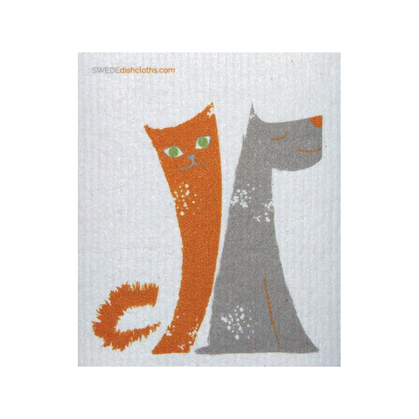 Swedish Dishcloth One Swedish Dishcloth Dog/cat Friends Design - 1