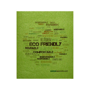 Swedish Dishcloth One Swedish Dishcloth Eco Wordcloud On Green Design - 1