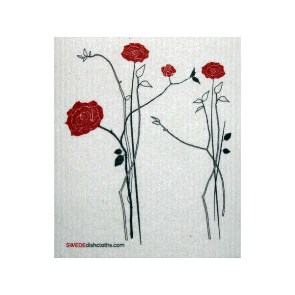 Swedish Dishcloth One Elegant Roses Design - 1