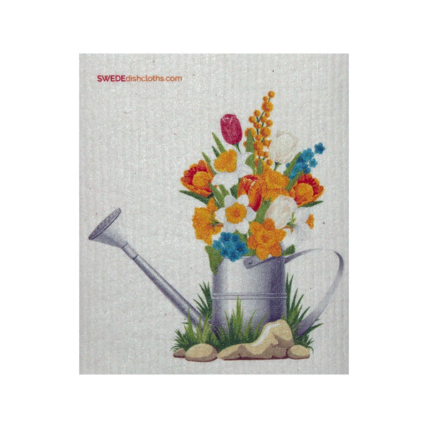 Swedish Dishcloth One Swedish Dishcloth Flowers In Pail Design - 1