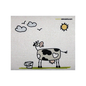 Swedish Dishcloth One Swedish Dishcloth Fun Cow In Sun Design - 1