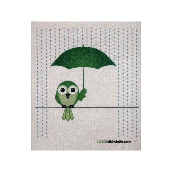 Swedish Dishcloth One Swedish Dishcloth Greenbird In Rain Design - 1