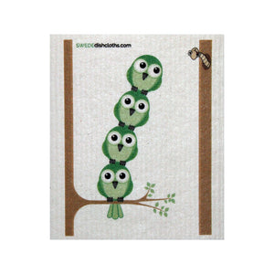 Swedish Dishcloth One Swedish Dishcloth Greenbirds In Tree Design - 1