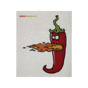 Swedish Dishcloth One Swedish Dishcloth Hot Chili Pepper Design - 1