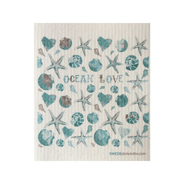 Swedish Dishcloth One Swedish Dishcloth Ocean Love Design - 1