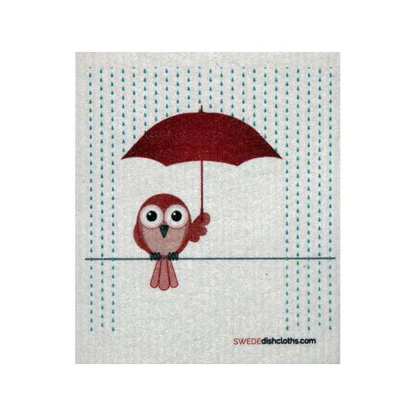 Swedish Dishcloth One Swedish Dishcloth Redbird In Rain Design - 1