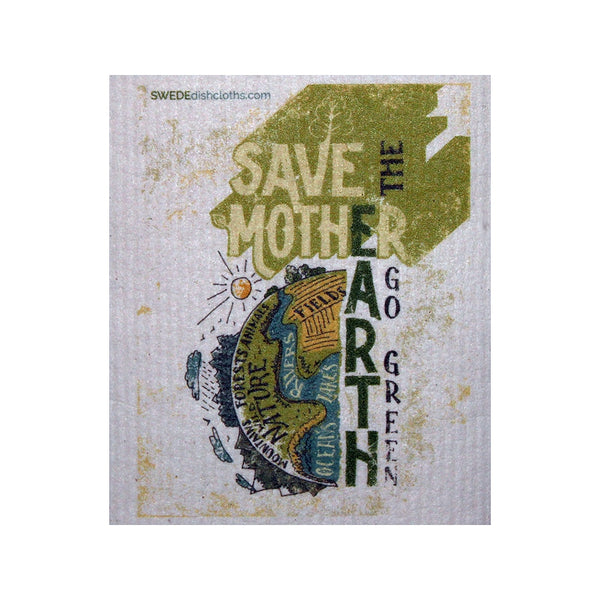 Swedish Dishcloth One Swedish Dishcloth Save Mother Earth Design - 1