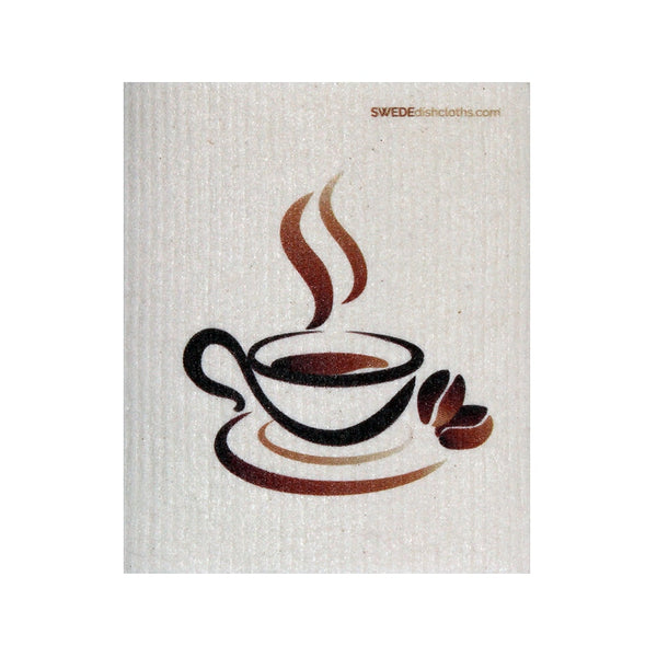 Swedish Dishcloth One Swedish Dishcloth Steaming Coffee Design - 1