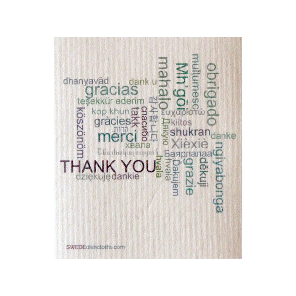 Swedish Dishcloth One Swedish Dishcloth Thank You Design - 1
