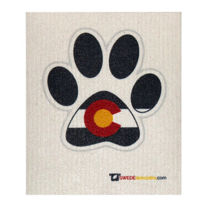 Swedish Dishcloth One Swedish Dishcloth With Colorado Dog Paw - 1