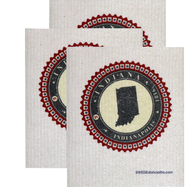 Swedish Dishcloth Set Of 3 Each Swedish Dishcloth Badge Design - Indiana - 3