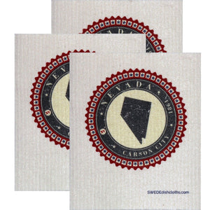 Swedish Dishcloth Set Of 3 Each Swedish Dishcloth Badge Design - Nevada - 3