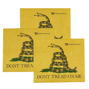 Swedish Dishcloth Set of 3 each Swedish Dishcloths - Dont Tread on Me