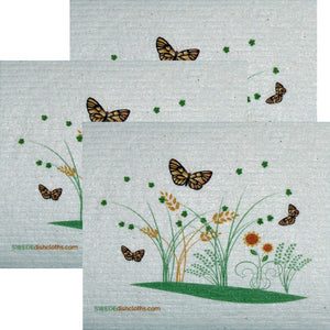 Swedish Dishcloth Set Of 3 Each Swedish Dishcloths 3 Spring Butterflies Design - 3