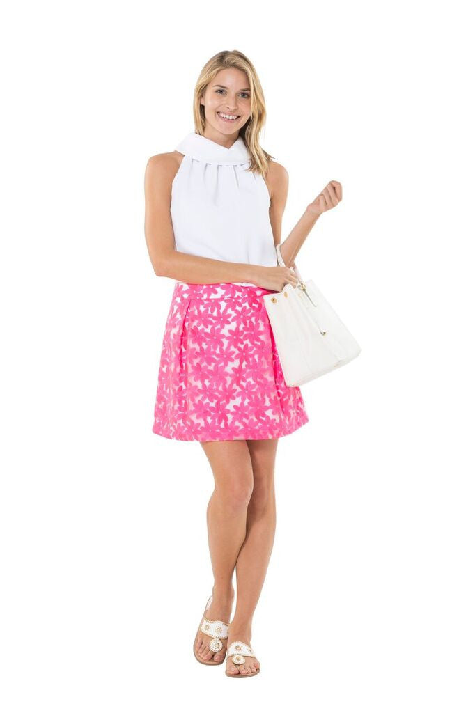 Sail to Sable Cotton Candy Skirt--Hot Pink