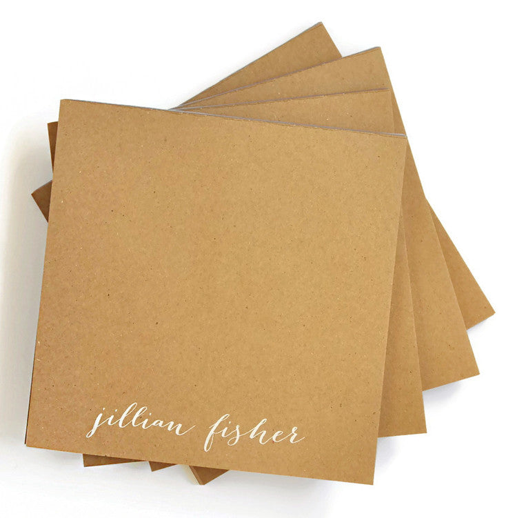Personalized Kraft Note Pads - Perfect Present Combo