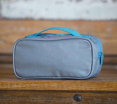 Waxed Cotton Dopp Kit with Custom Monogram