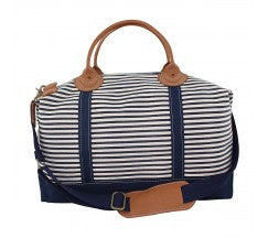 Striped Weekend Duffel Bag with Monogram