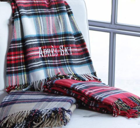 Personalized Tartan Plaid Throw