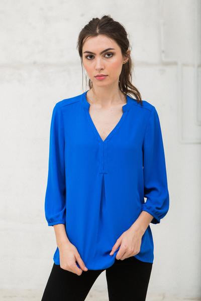 Crosby Kay Blouse- Royal Blue